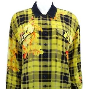 ESCADA Margaretha Ley 100% Silk Blouse Yellow